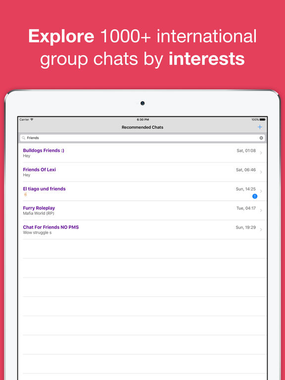 Friendship chat rooms uk