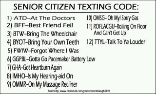 Texting abbreviations for seniors