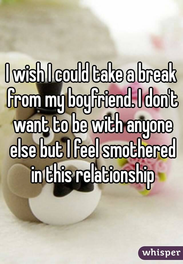 Smothered in a relationship