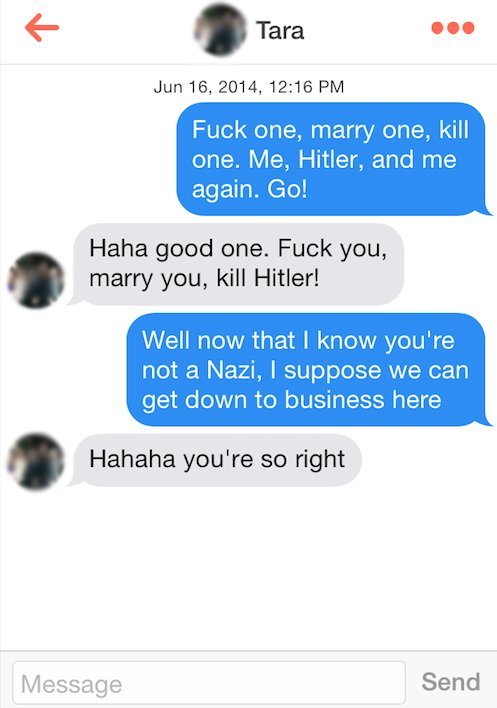 Top conversation starters on tinder