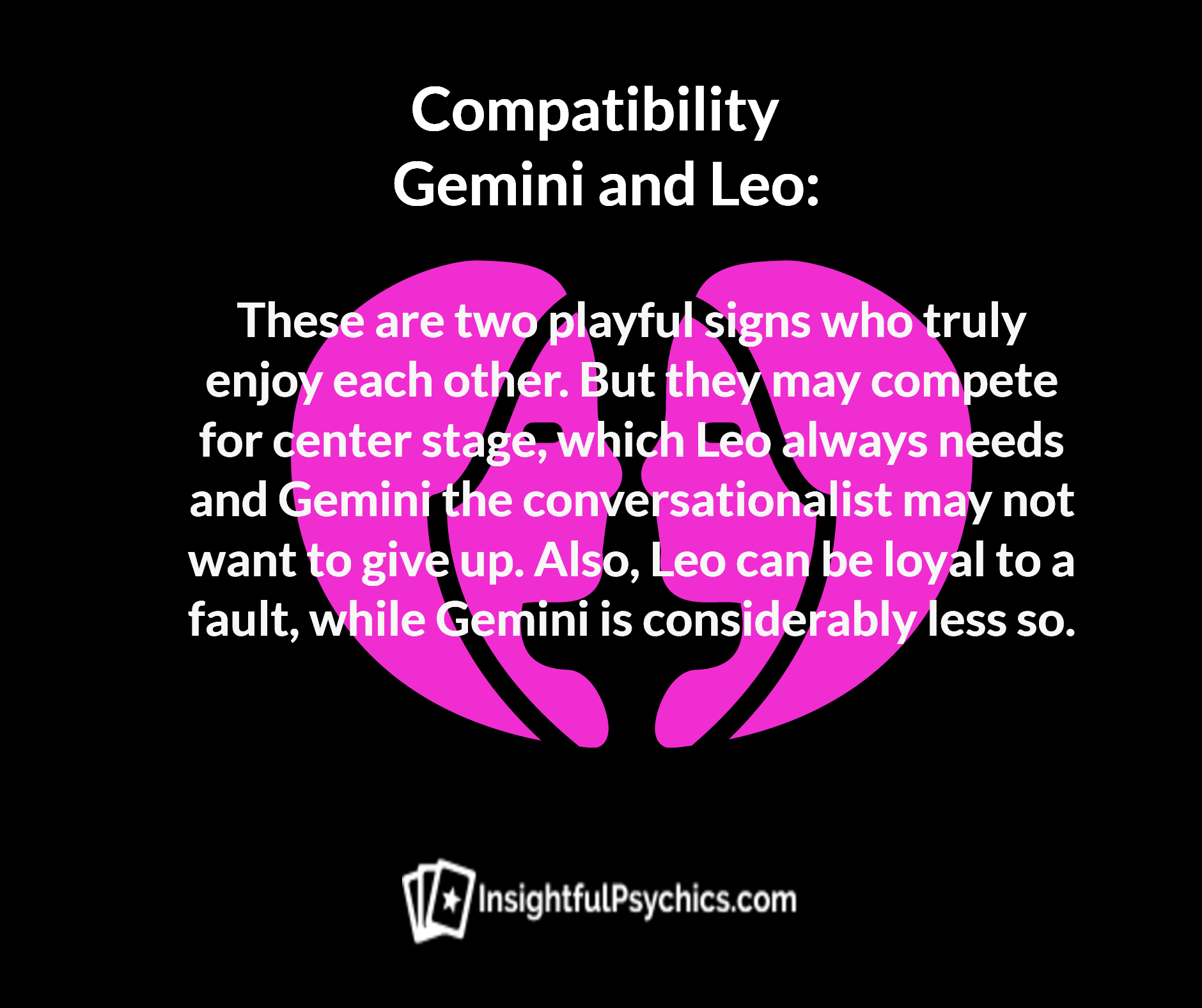 Gemini and leo sexual compatibility