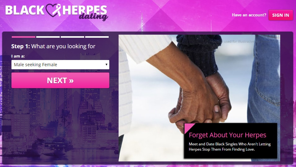 Website for people with herpes