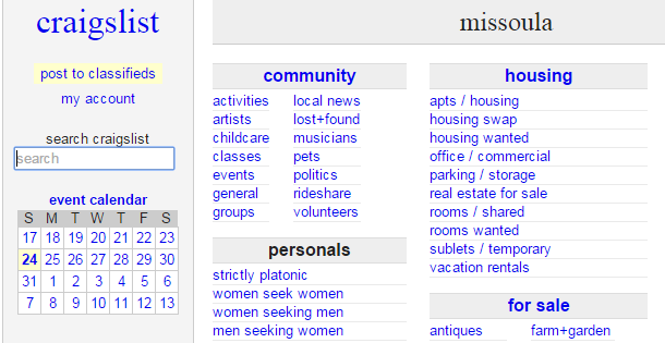 Craigslist billings personals