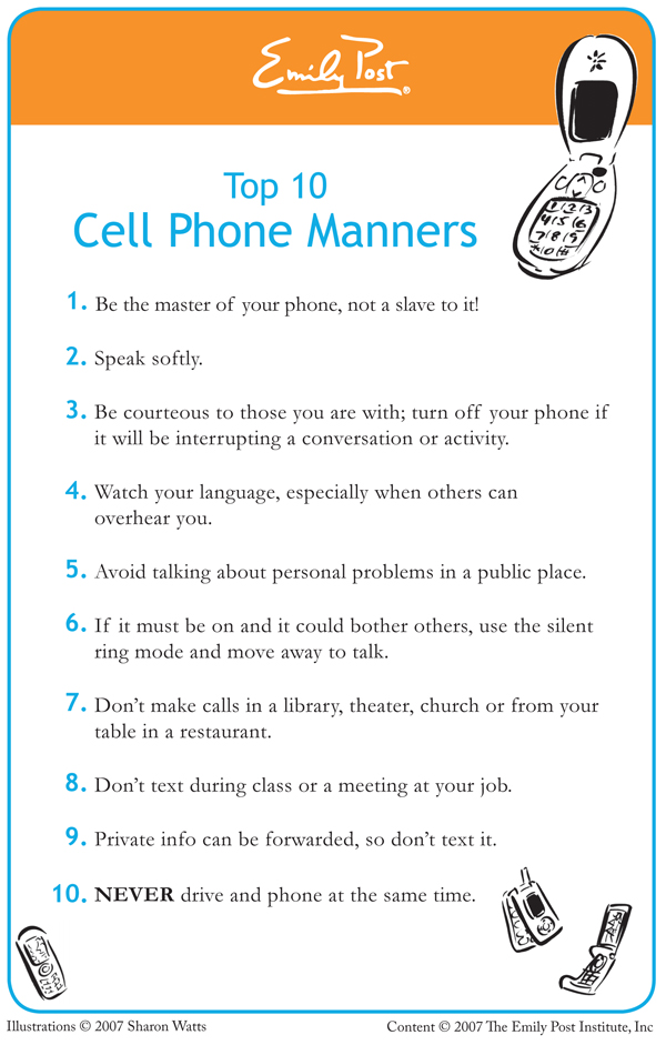 Texting manners