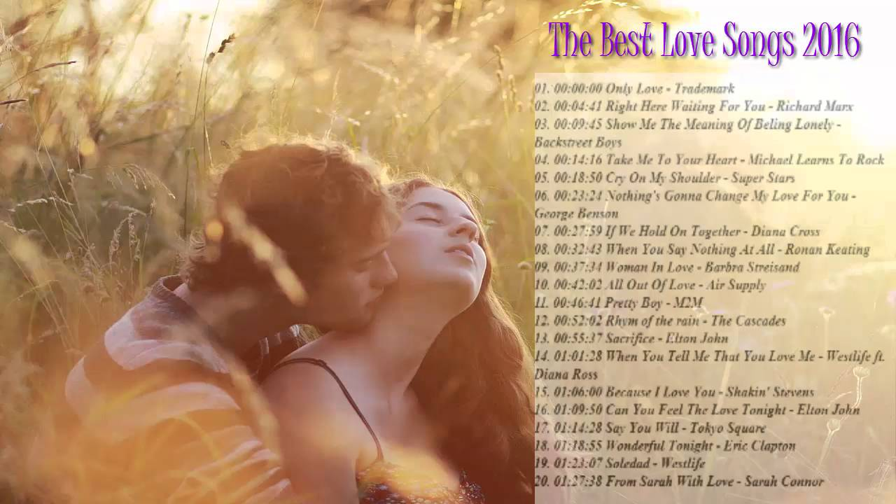 Top love songs 2016