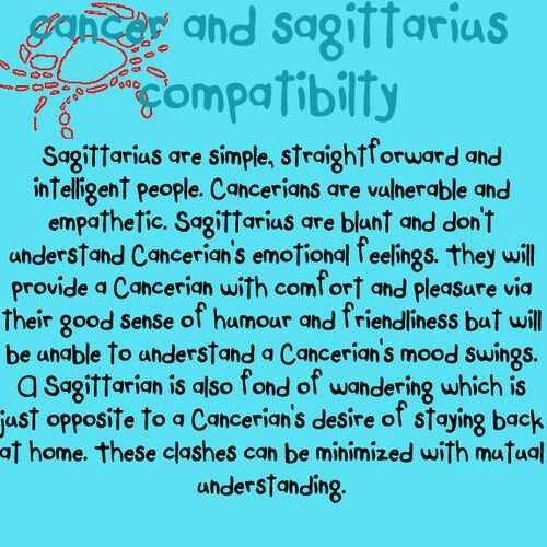 Is cancer and sagittarius compatible