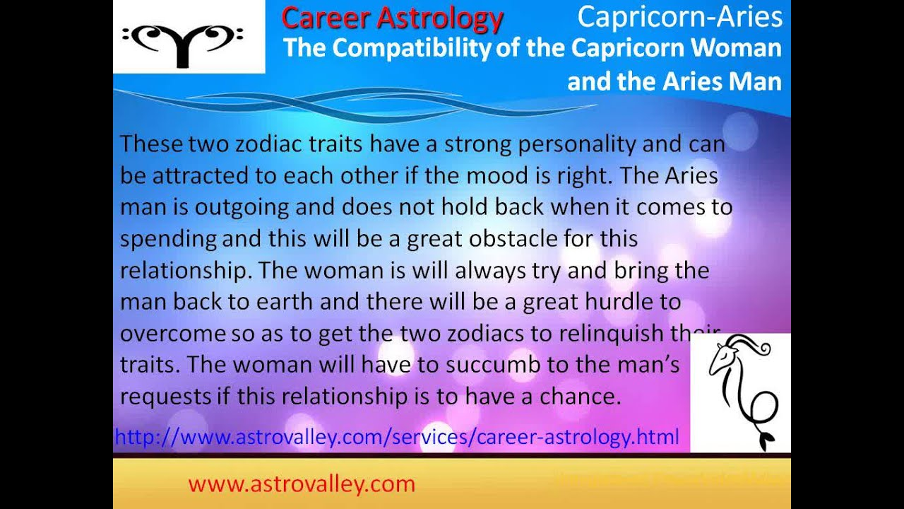 Capricorn and aries compatibility chart