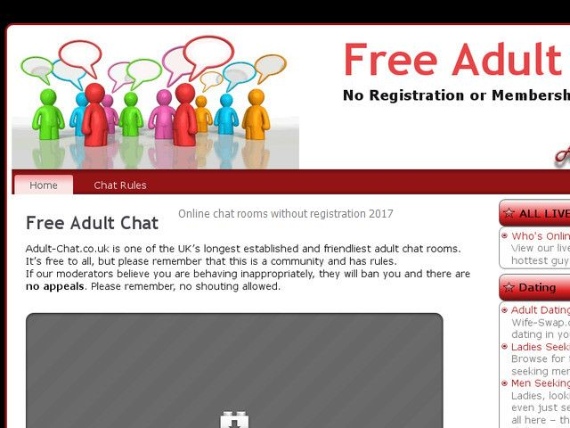 Free adult chat rooms without registration