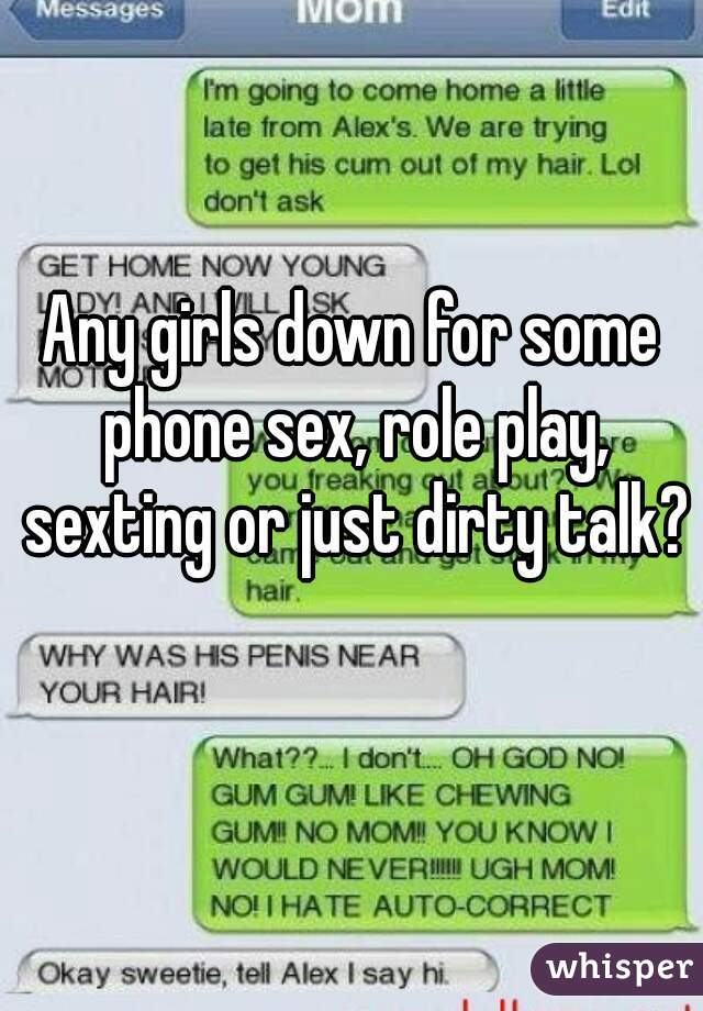 Role play sexting