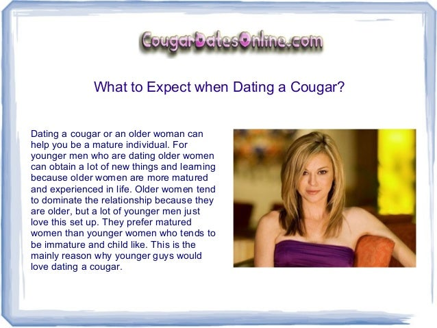 What is the definition of a cougar in dating.