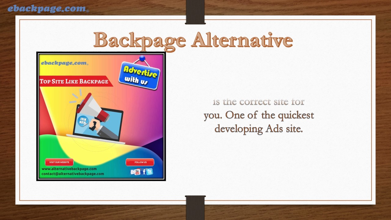 Backpage alternative sites