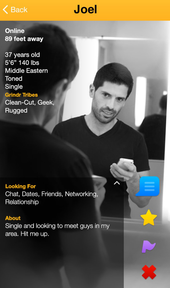 Find someone on grindr