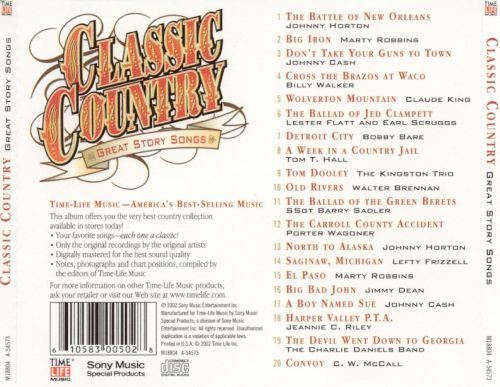 Country classics songs list