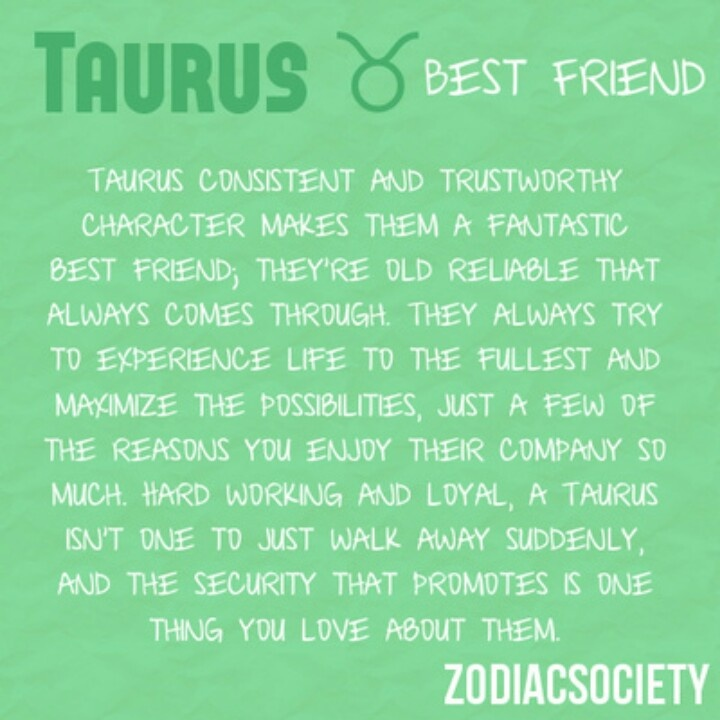 Best mate for a taurus woman