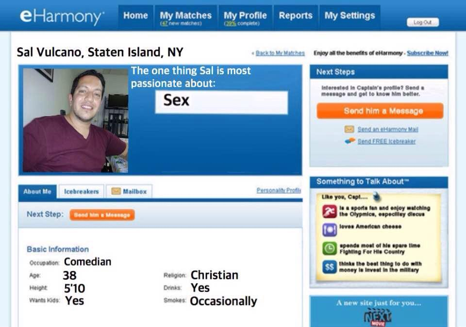 How do i hide my profile on eharmony
