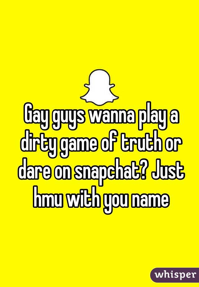 Gay dirty truth or dare