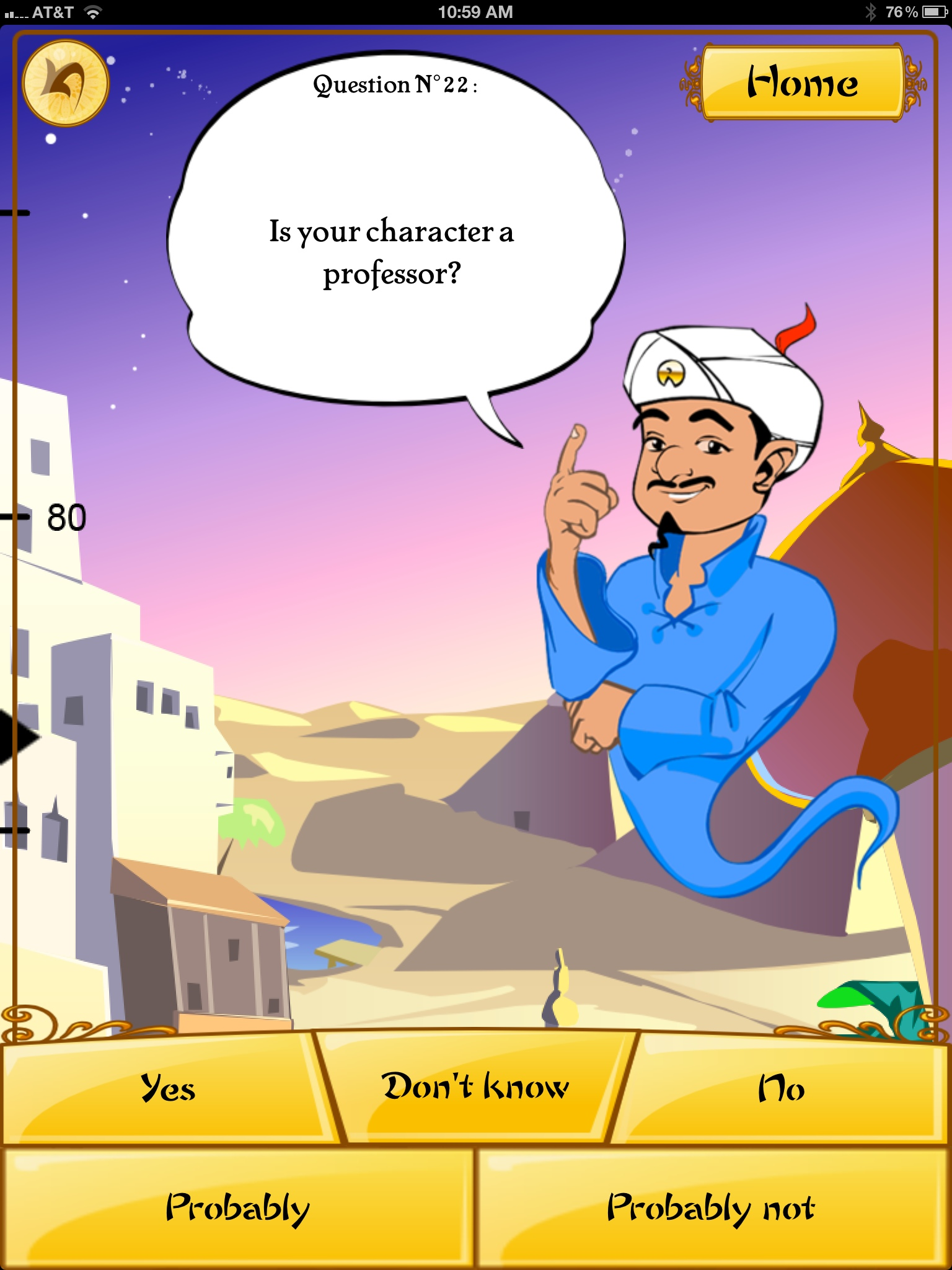 Magic genie akinator