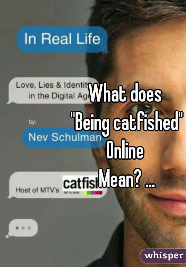 What does catfished mean in dating