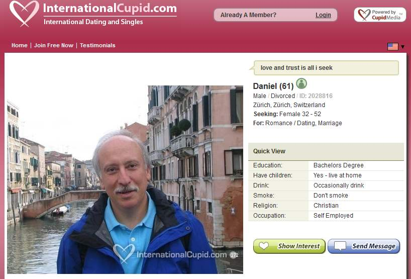 International cupid scams
