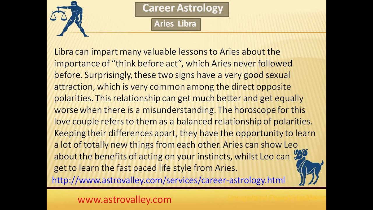 Aries and libra relationship compatibility