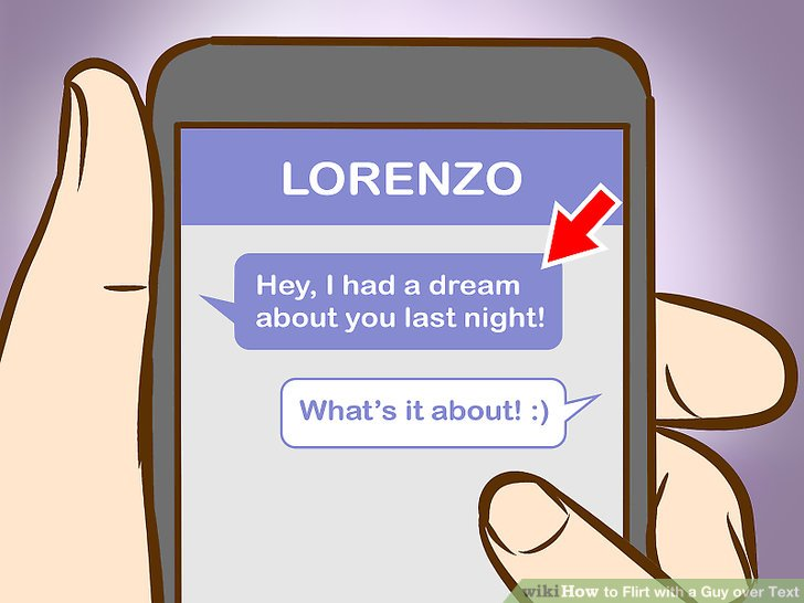How to flirt with a man over text
