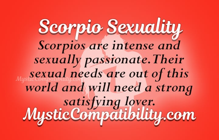 Scorpio man sexuality traits