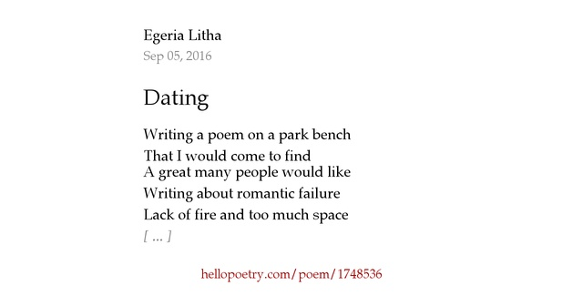 Dating poems