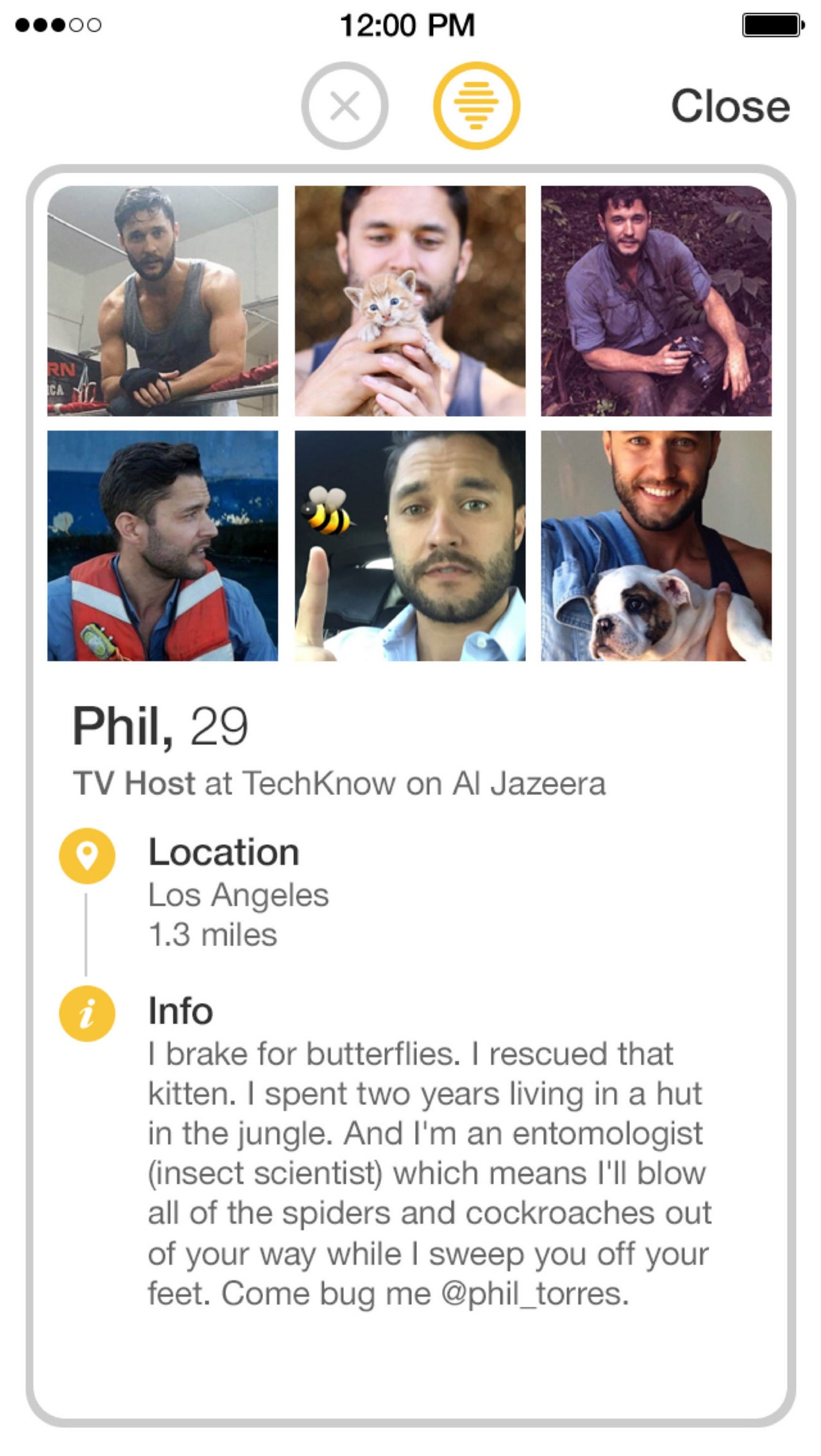 Bumble guy profiles