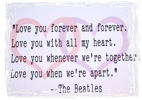 Most romantic beatles songs