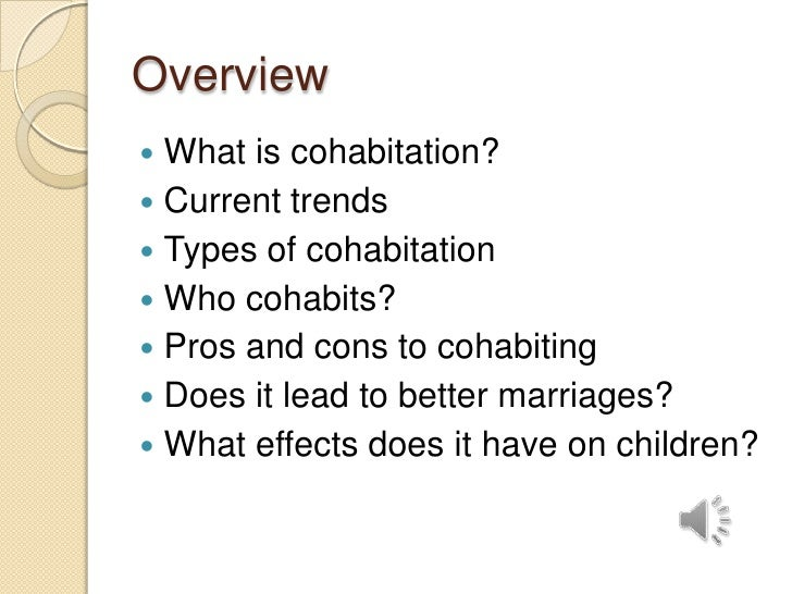 Cohabitation pros and cons