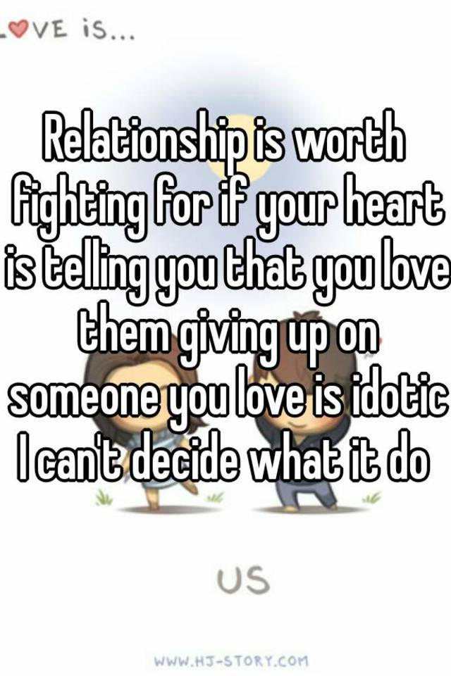 A relationship worth fighting for