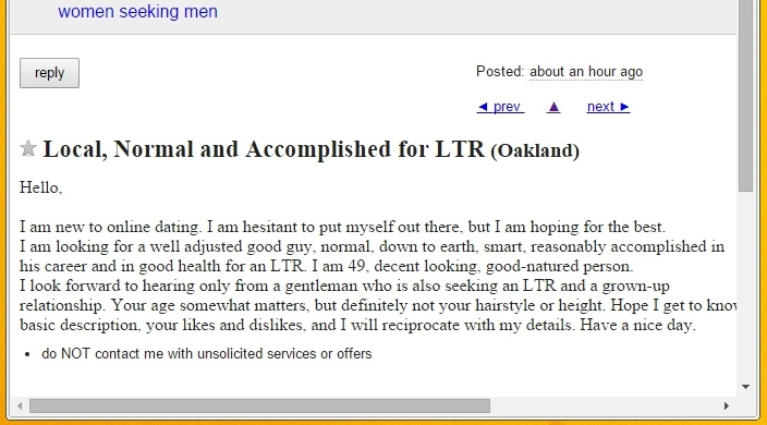Better than craigslist personals