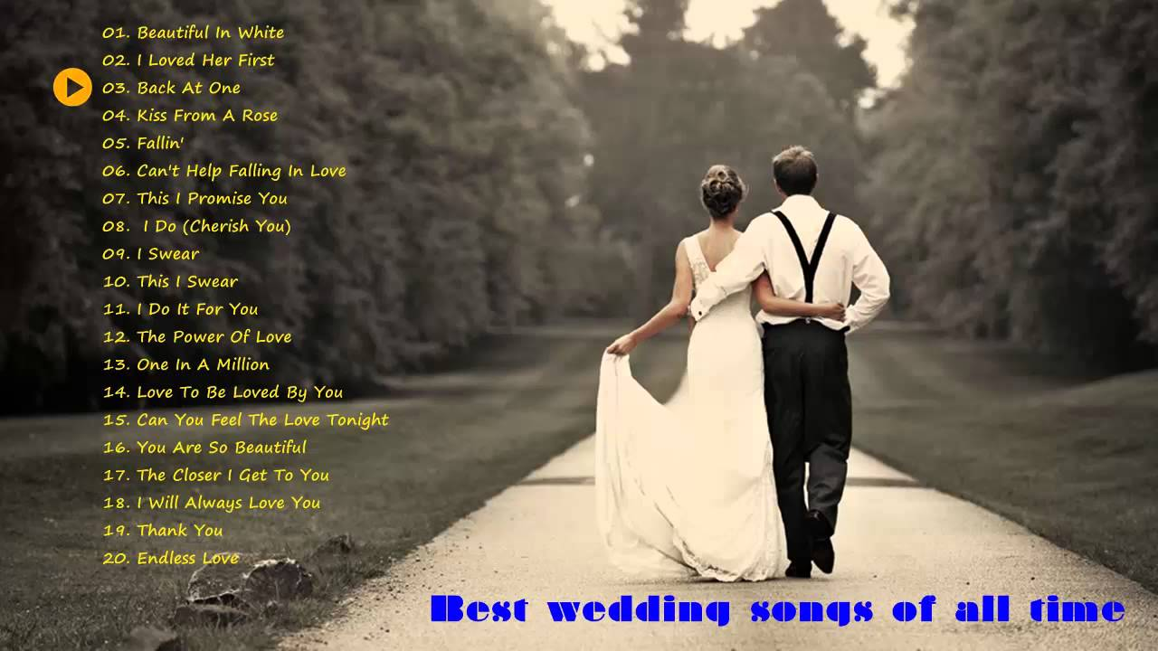 All time wedding songs