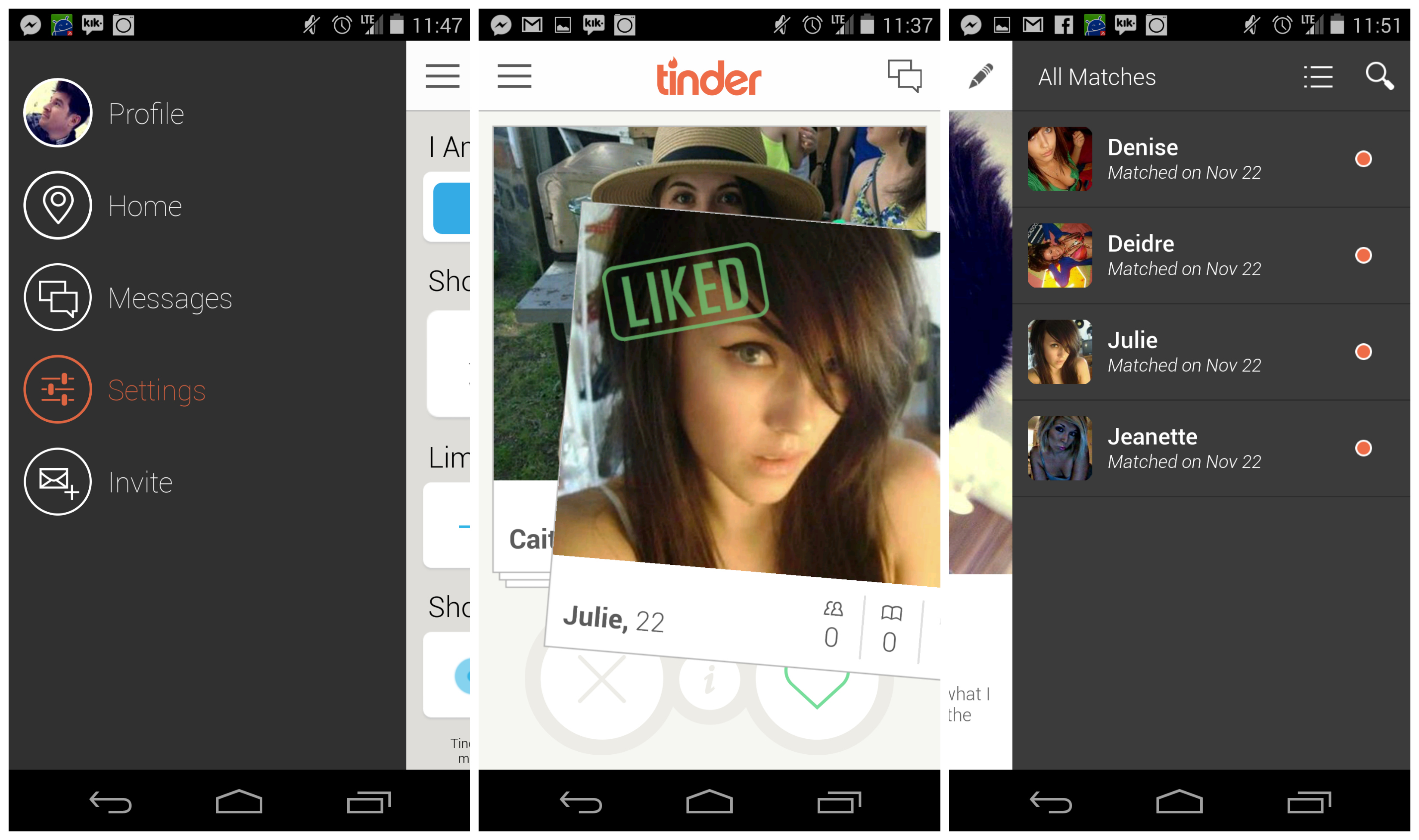 Android tinder