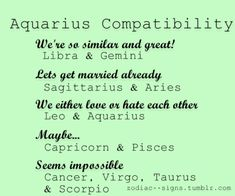 Aquarius and sagittarius marriage compatibility