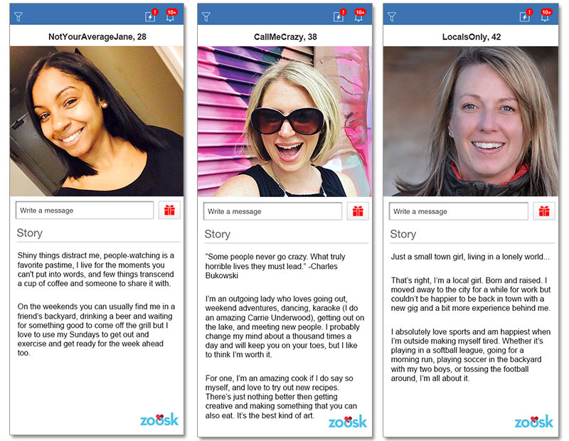 Online dating profiles for women examples