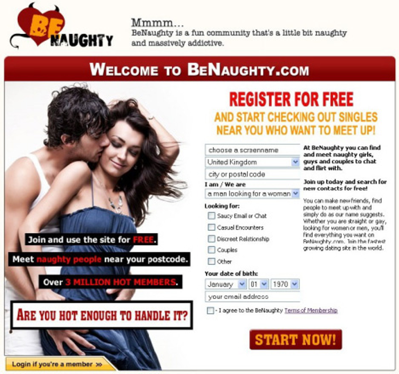 Benaughty login