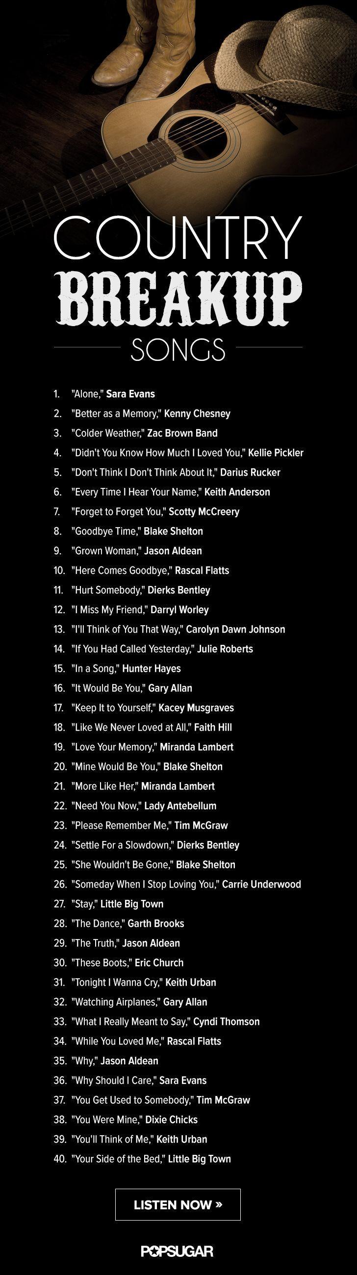 Best country songs to sing to a girl