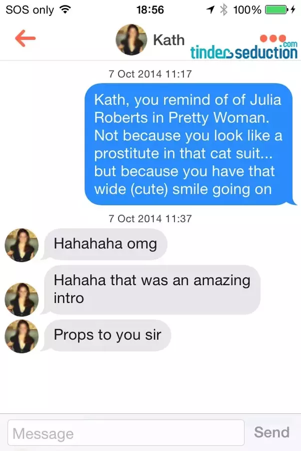 Best first thing to say on tinder