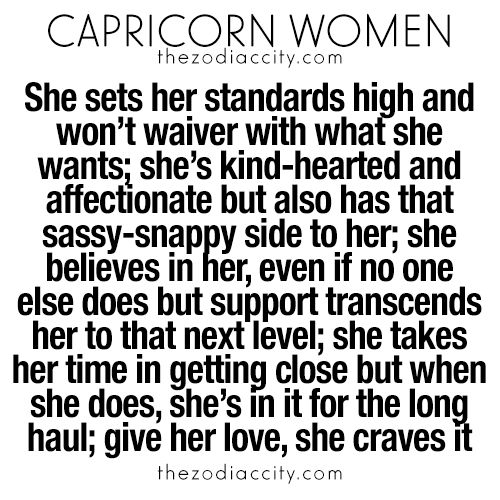Best signs for capricorn woman