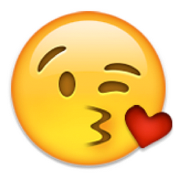 Blowing kiss emoji meaning