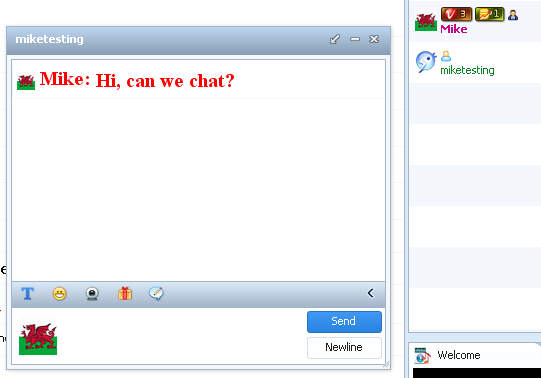Buzz50 chat room