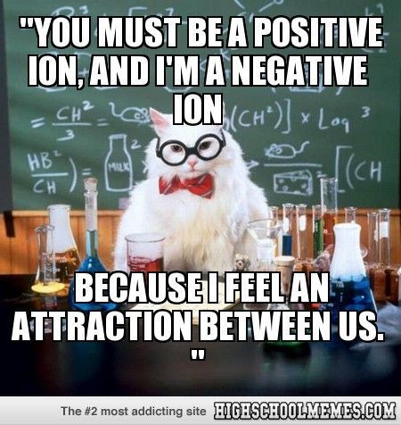 Funny chemistry pick up lines