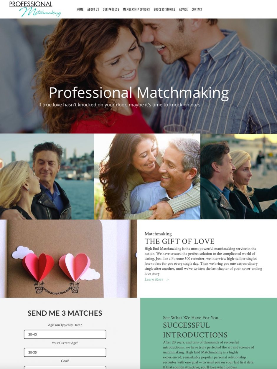 Professional matchmaking sites