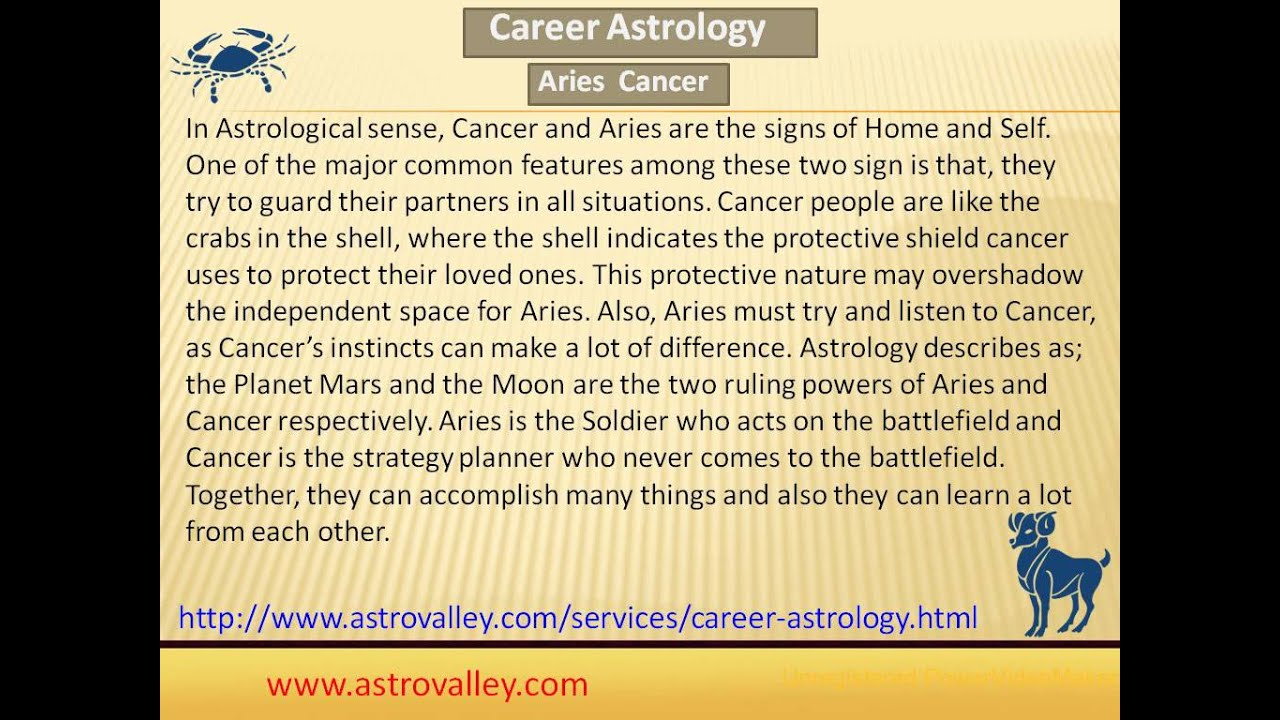 Cancer aries relationship compatibility
