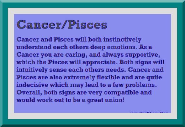 Cancer horoscope relationship compatibility