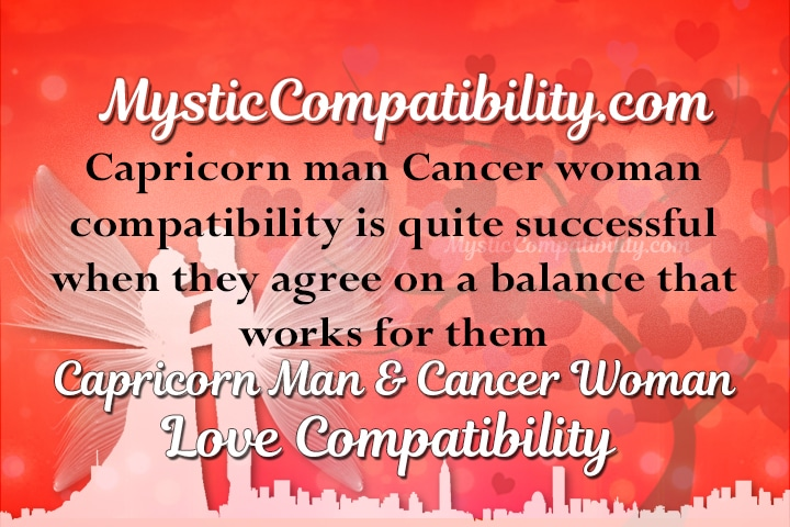 Capricorn and cancer love connection