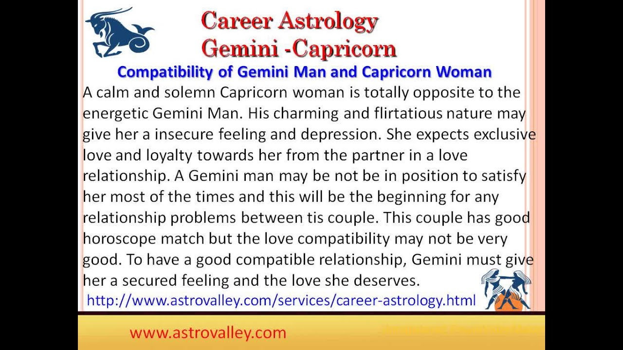 Capricorn and gemini match