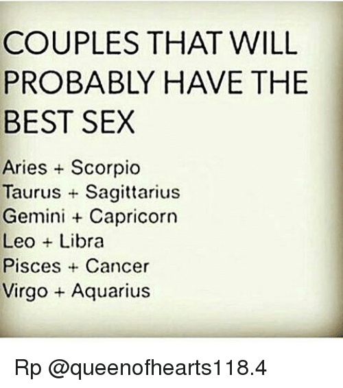 Capricorn and scorpio sex