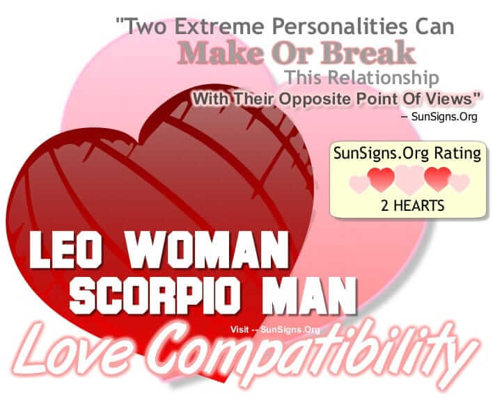 Scorpio man leo woman break up